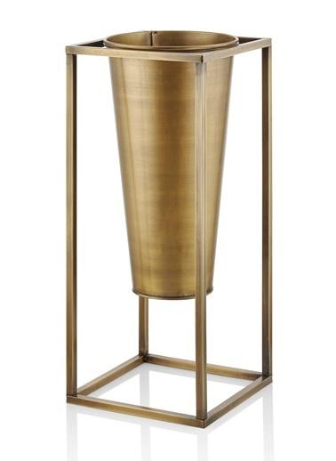 The Mia Vazo 80 x 30 x 30 Cm Gold Altın